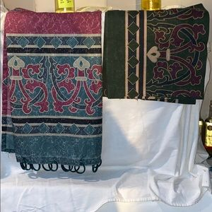 Other - Fabric Shower Curtain and 2pc Valance Set